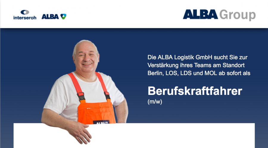 berufskraftfahrer stellenangebot berlin alba logistik gmbh job 2405. Black Bedroom Furniture Sets. Home Design Ideas