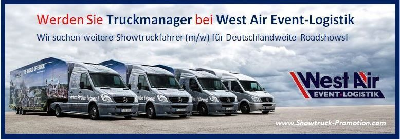 berufskraftfahrer jobb rse k ln west air gmbh event logistik job 3246. Black Bedroom Furniture Sets. Home Design Ideas