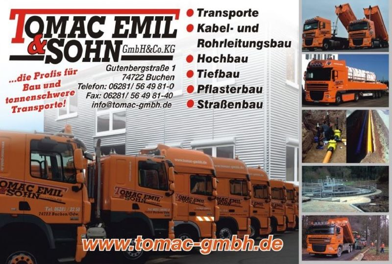 lkw fahrer gesucht 74722 buchen odenwald tomac emil sohn gmbh co kg job 3831. Black Bedroom Furniture Sets. Home Design Ideas